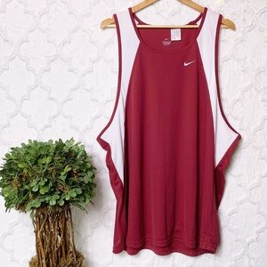 Nike Dri Fit Burgundy Red Athletic-wear Tank Top